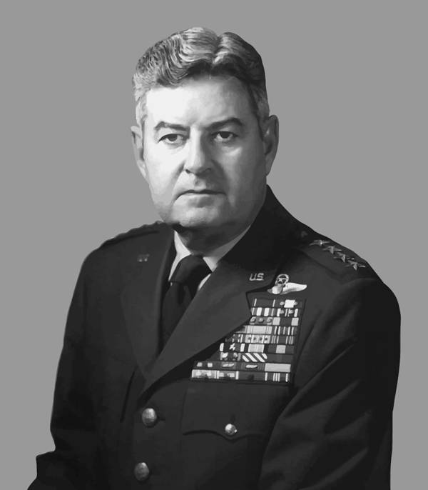 Curtis Lemay Print featuring the painting General Curtis Lemay by War Is Hell Store