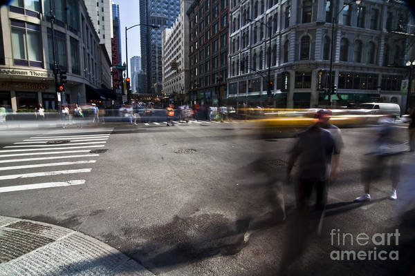City Street Print featuring the photograph Getting Somewhere by Sven Brogren