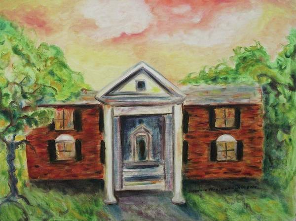 Graceland Print featuring the painting Graceland by Suzanne Marie Leclair