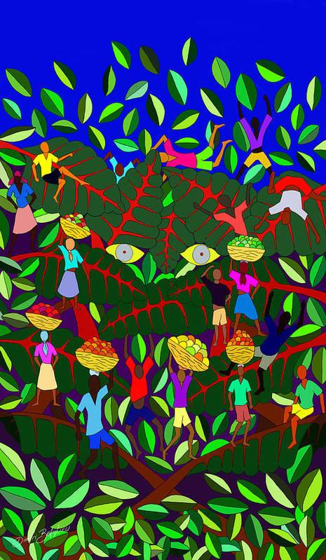 Haitian Art Print featuring the digital art Gran Bwa by Dimitri Beaulieu