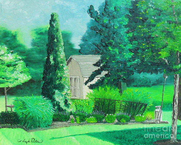 Landscape Print featuring the painting Green And Growing by Joseph Palotas