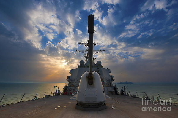 Uss Higgins Print featuring the photograph Guided-missile Destroyer Uss Higgins by Stocktrek Images
