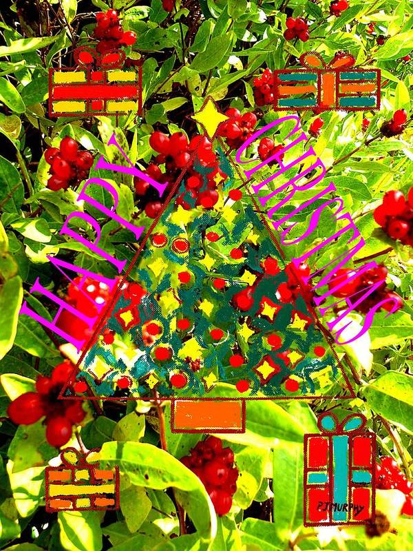 Christmas Print featuring the painting Happy Christmas 25 by Patrick J Murphy