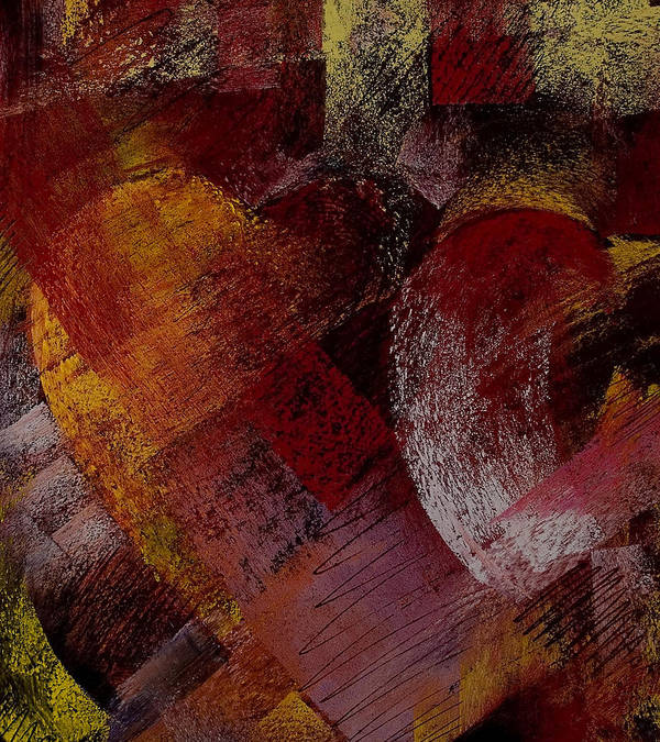 Hearts Print featuring the painting Hearts by David Patterson