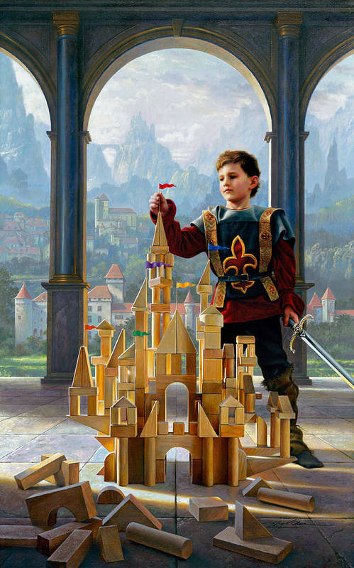 King Print featuring the painting Heir To The Kingdom by Greg Olsen