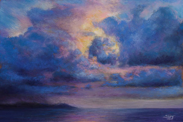 Landscape Print featuring the pastel His Glory by Susan Jenkins
