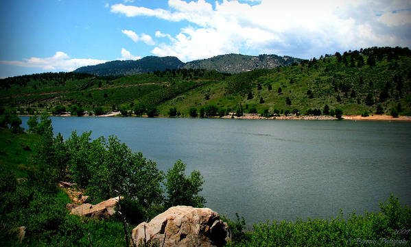 Horsetooth Reservoir Print featuring the photograph Horsetooth Reservoir Summer by Aaron Burrows