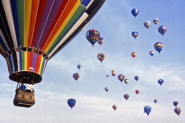 Hot Air Balloon Print featuring the photograph Hot Air Balloon - 12 by Randy Muir