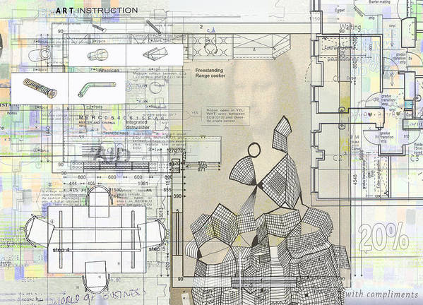 Architectural Art Print featuring the digital art How To Make Not Art Part 1 by Andy Mercer