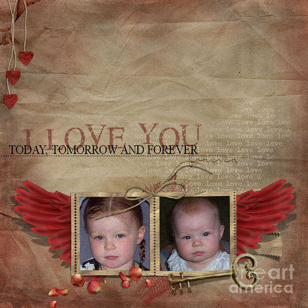 Children Photographs Print featuring the photograph I Love You by Joanne Kocwin