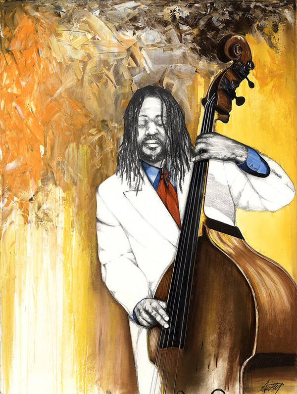 Music Print featuring the mixed media Inauguration by Anthony Burks Sr