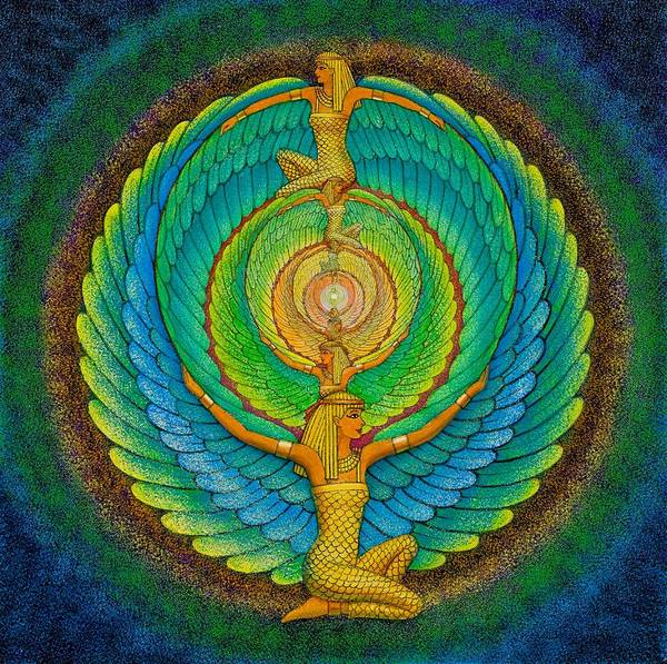 Meditation Print featuring the painting Infinite Isis by Sue Halstenberg