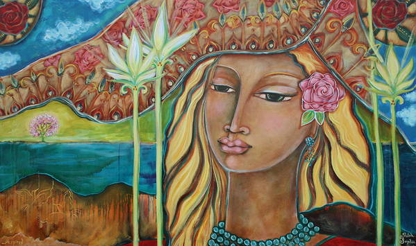 Inspirational Art Print featuring the painting Inspired by Shiloh Sophia McCloud