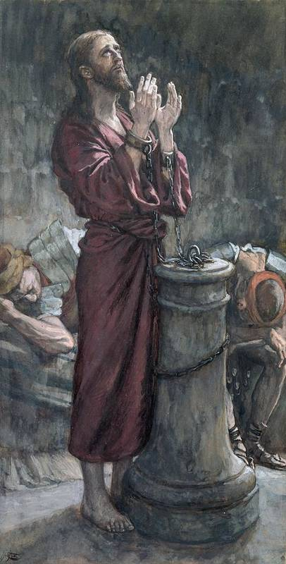 Jesus Print featuring the painting Jesus In Prison by Tissot