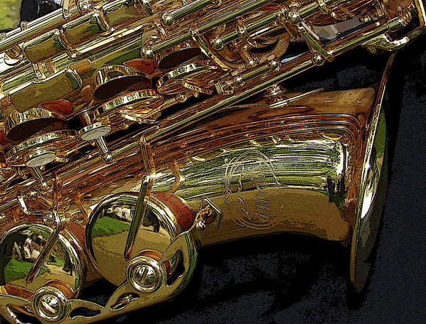 Sax Print featuring the photograph Jupiter Saxophone by Michelle Calkins