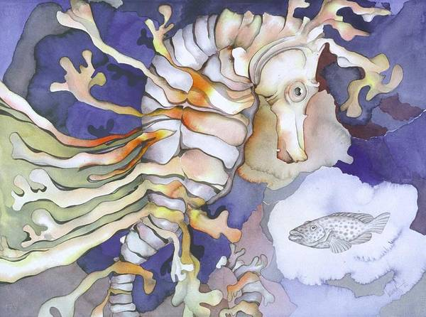 Sealife Print featuring the painting Just Dreaming Too by Liduine Bekman