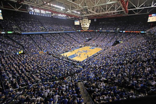 Lexington Print featuring the photograph Kentucky Wildcats Rupp Arena by Replay Photos