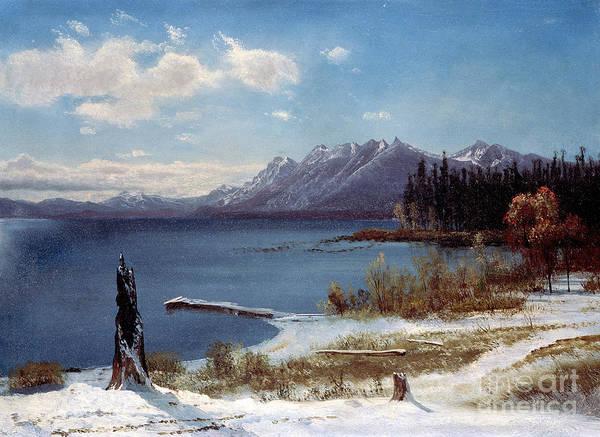 Tahoe Print featuring the painting Lake Tahoe by Albert Bierstadt
