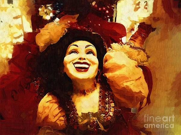 Gypsy Print featuring the painting Laughing Gypsy by Deborah MacQuarrie