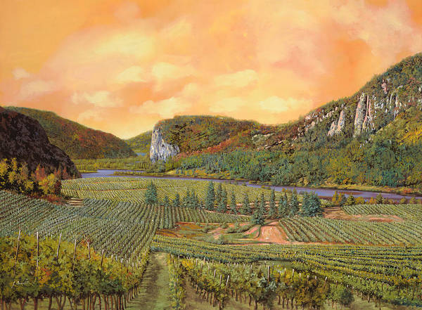 Vineyard Print featuring the painting Le Vigne Nel 2010 by Guido Borelli