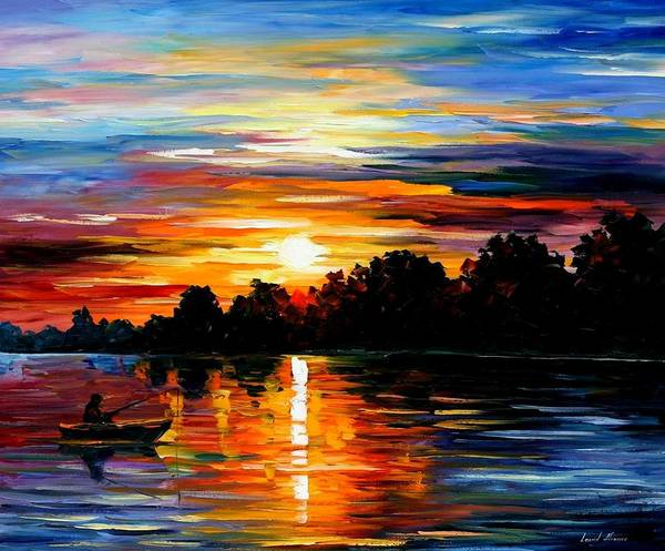 Afremov Print featuring the painting Life Memories by Leonid Afremov