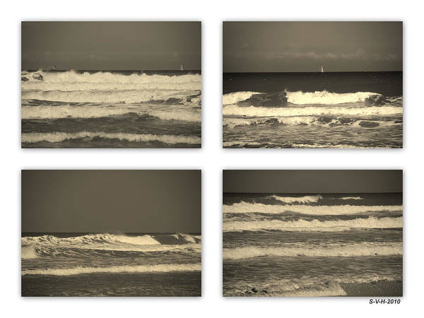 Waves Print featuring the photograph Listen To The Song Of The Ocean by Susanne Van Hulst