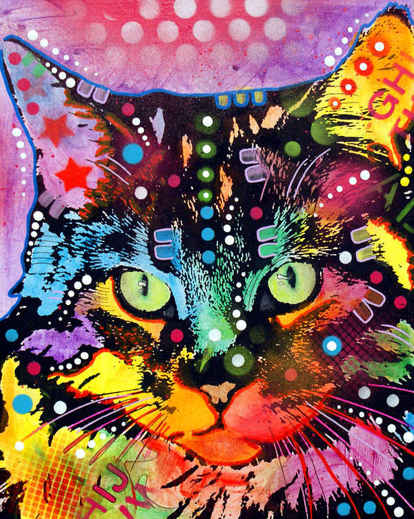 Dean Russo Print featuring the painting Maine Coon by Dean Russo