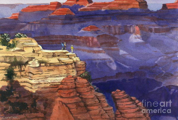 Grand Canyon Print featuring the painting Majesty by Elizabeth Carr