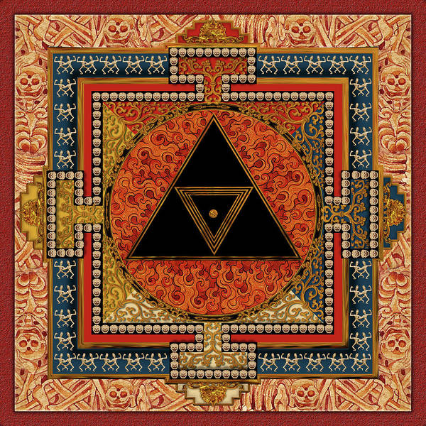 Mandala Print featuring the digital art Mandala Kalichakre For Her by Mark Myers