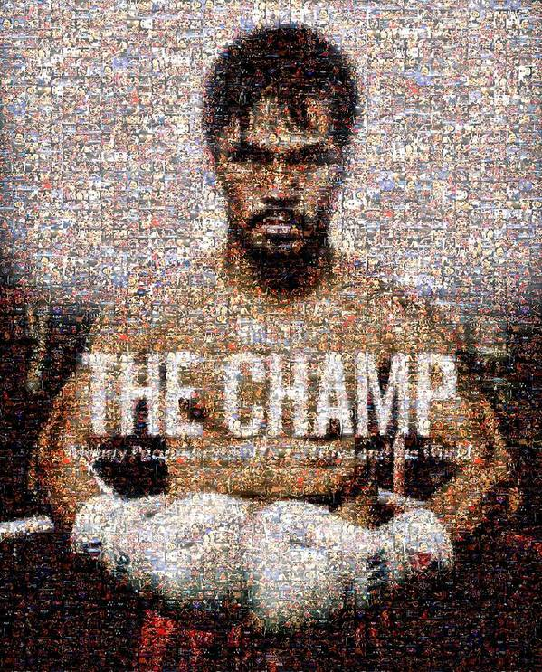 Manny Pacquiao Print featuring the digital art Manny Pacquiao-the Champ by Ted Castor