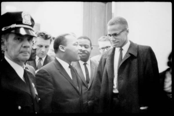 1960s Print featuring the photograph Martin Luther King Jr., And Malcolm X by Everett