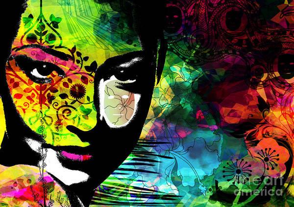Emotions Mask Ego Print featuring the digital art Masking Ego by Ramneek Narang