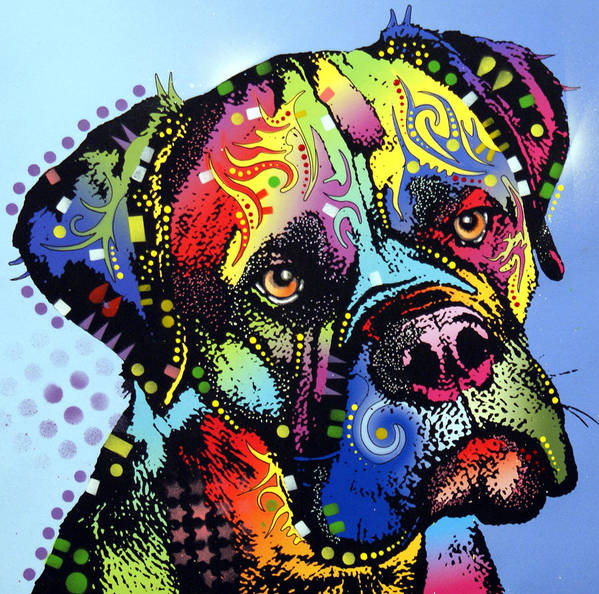 Dog Print featuring the painting Mastiff Warrior by Dean Russo