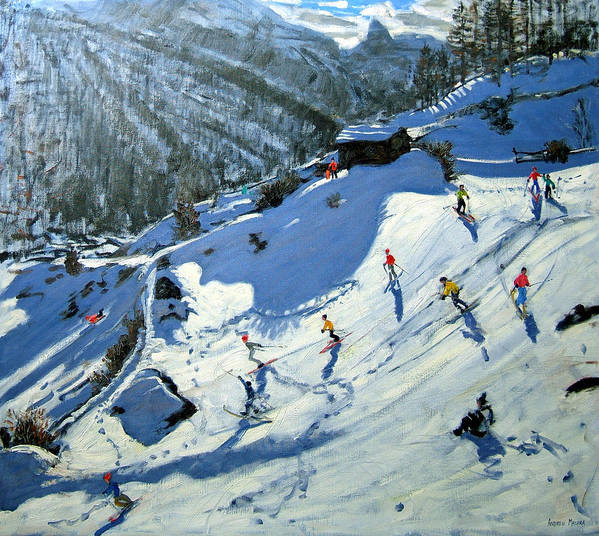 Alps Print featuring the painting Matterhorn by Andrew Macara