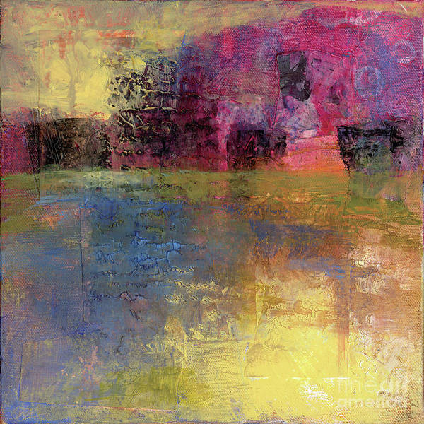 Abstract Print featuring the painting Meditation Place by Melody Cleary