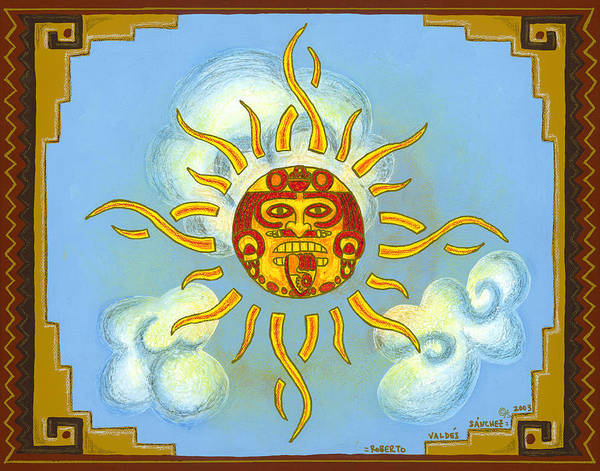 Mexico Print featuring the painting Mi Sol by Roberto Valdes Sanchez