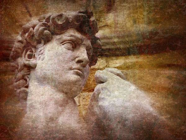 David Print featuring the photograph Michelangelo's David by Jen White