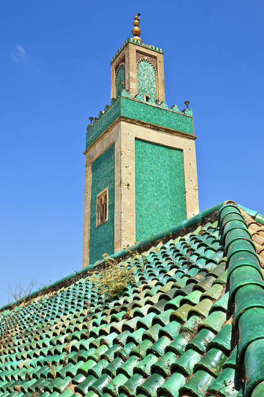Vertical Print featuring the photograph Minaret Of Grand Mosque by Kelly Cheng Travel Photography