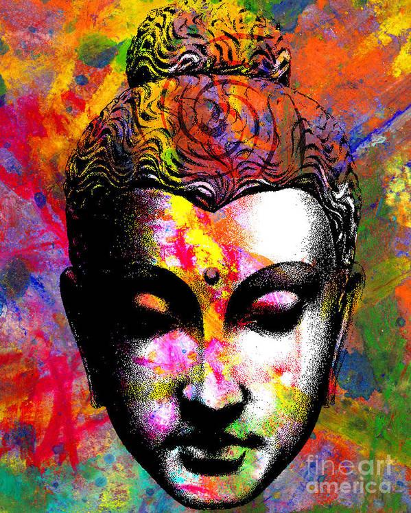 Ancient Print featuring the digital art Mind by Ramneek Narang