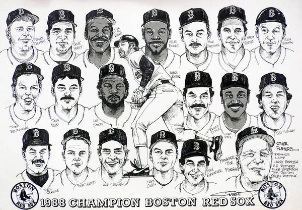 Boston Print featuring the drawing Morgan Magic And The East Championship Newspaper Poster by Dave Olsen