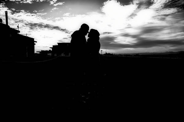 Black And White Print featuring the photograph Morning Love by Uros Zunic