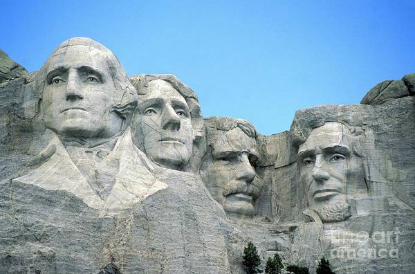 Mount Print featuring the photograph Mount Rushmore by American School