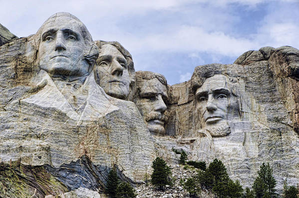 Mount Rushmore Print featuring the photograph Mount Rushmore National Monument by Jon Berghoff