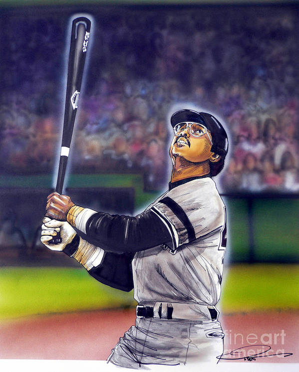 Yankees Print featuring the painting Mr. October by Dave Olsen