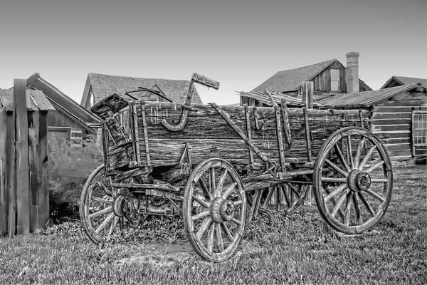 Wagon Print featuring the photograph Nevada City Montana Freight Wagon by Daniel Hagerman