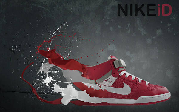 Nike Print featuring the digital art Nike Id by Tom Layland