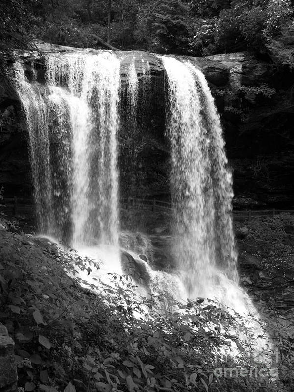 Waterfall Print featuring the photograph North Carolina Dark Falls by Julian Bralley