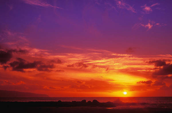 Air Art Print featuring the photograph North Shore Sunset by Vince Cavataio - Printscapes