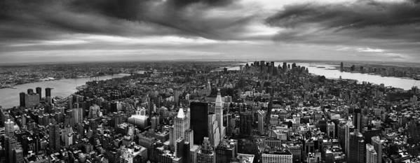 Nyc Print featuring the photograph Nyc Manhattan Panorama by Nina Papiorek