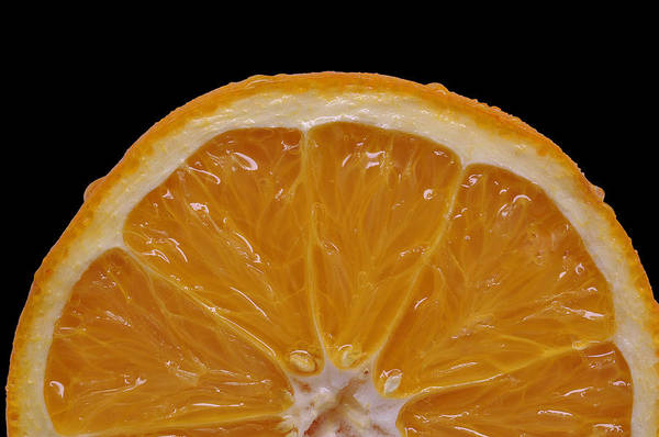 Isolated Object Print featuring the photograph Orange Sunrise On Black by Laura Mountainspring